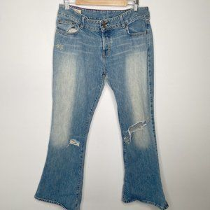 Abercrombie & Fitch Light Wash Bootcut Jeans 12